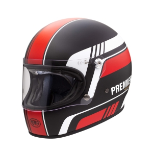 Motorradhelm Premier TROPHY Stripe Red