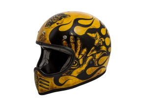 Motorradhelm Retro Crosshelm Premier Trophy MX Flame