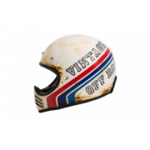 Motorradhelm Retro Crosshelm Premier Trophy MX Stripe