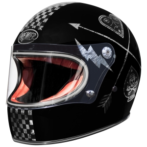Motorradhelm Premier TROPHY Chrome-Edition