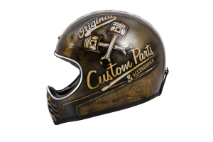 Motorradhelm Retro Crosshelm Premier Trophy MX Custom Part