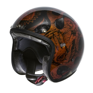 Premier - Le Petit - Orange Chromed - Motorradhelm
