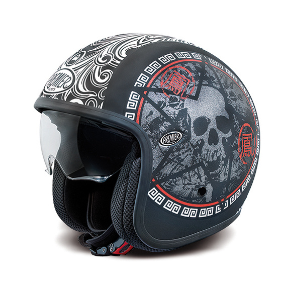 motorradhelm retro jethelm premier vintage skull. Black Bedroom Furniture Sets. Home Design Ideas
