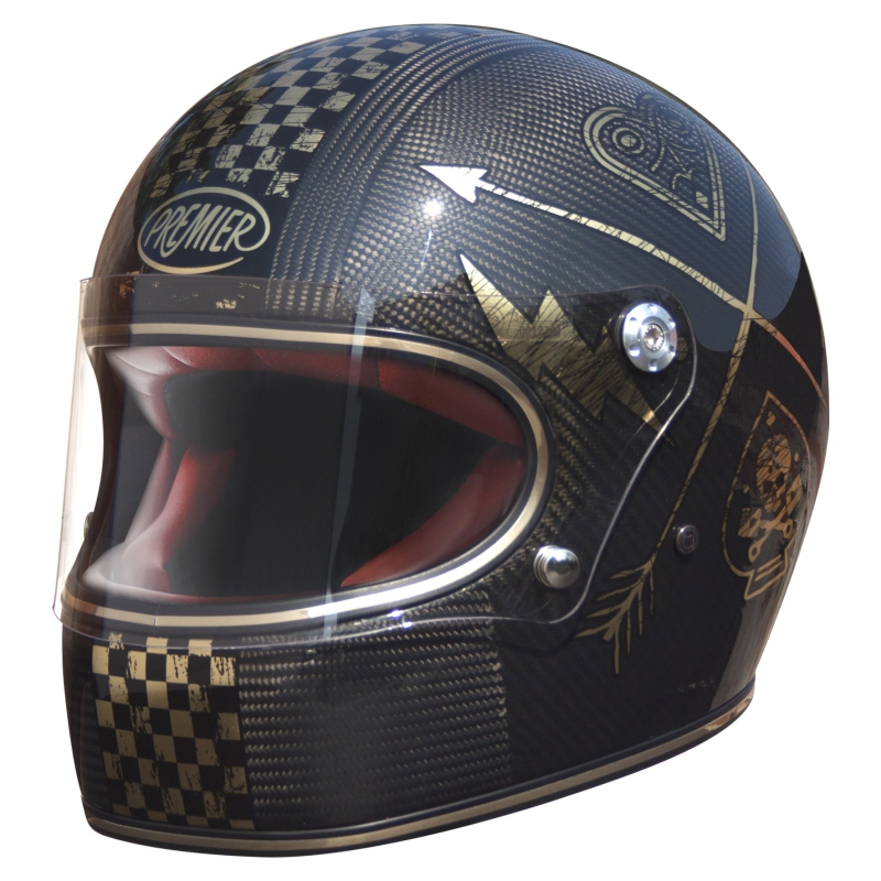 Motorradhelm Premier Trophy Carbon Gold-Edition